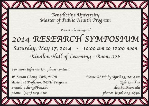 Presenting at Research Symposium